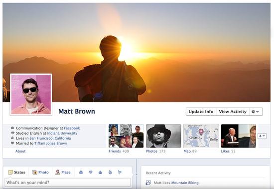 Facebook Timeline Profile E