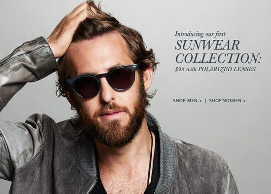Warber Parker Sunwear Collection - $95 with polarized lenses