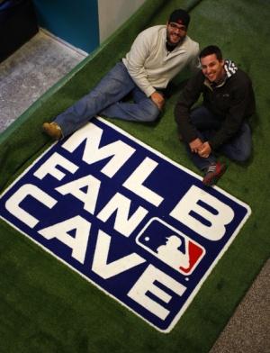 Ryan Wagner and Mike O'Hara at New York's MLB Fan Cave