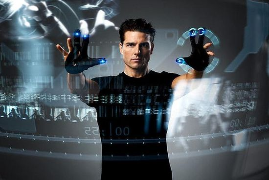 Tom Cruise in the film thriller, 'Minority Report'