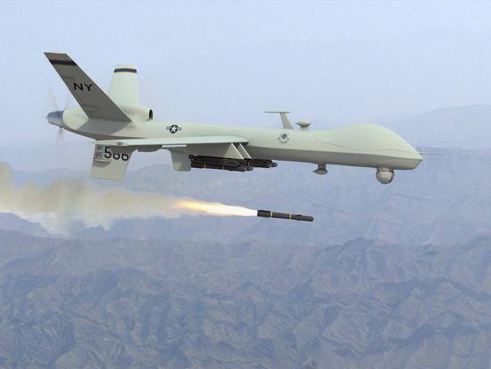 Predator drone flying over the skies of Afghanistan and Pakistan