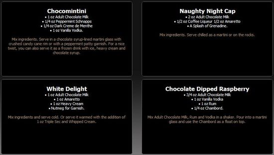 Adult Chocolate Milk Mixed Drink Variations 1