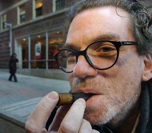 Harvard professor David Edwards shown inhaling caffeine vapors 2