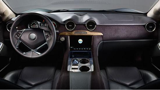 Fisker Karma front seats, steering wheel and dashboard