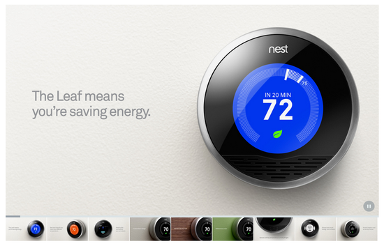 Nest blends into any wall color and is constantly at work saving you energy