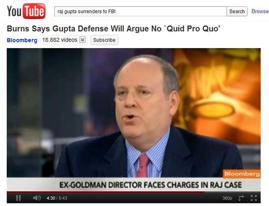 Douglas Burns, a formal federal prosecutor, talks about Rajat Gupta, the former Goldman Sachs Group Inc