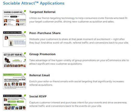 Sociable Attract Applications