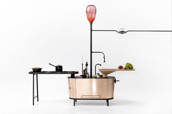 Microbial Home kitchen bio-digester that helps power the rest of the kitchen