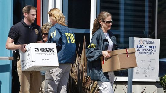 FBI agents raided Solyndra's corporate headquarters on September 20, 2011