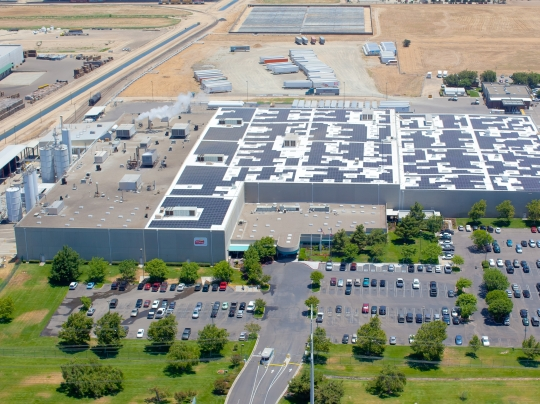 Solyndra's factory in Fremont, California