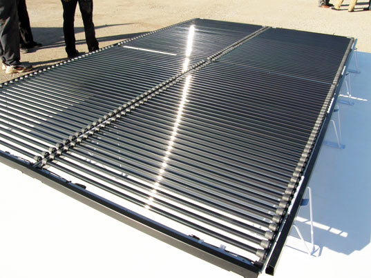 Solyndra's cylindrical solar technology was twice as expensive as regular PV cell panels