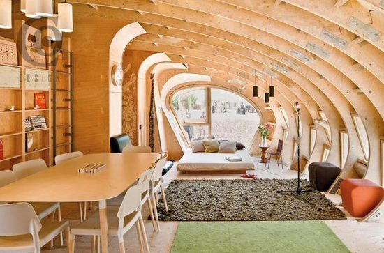 Fablab House, IAAC with MIT Center for Bits and Atoms, Spain, 635 sq. ft. (Interior View)