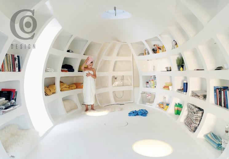 Blob dmvA Architecten, Antwerp, Belgium, 215 sq. ft. (Interview View)