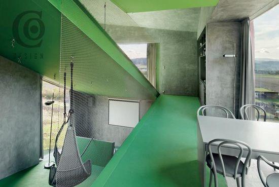 Villa Hermina HSH Architekti Cernin, Czech Republic, 635 sq. ft (Interior View )