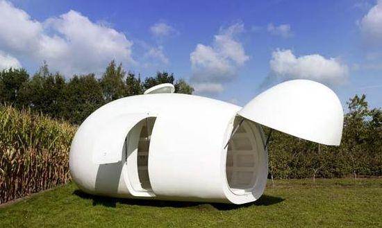 Blob dmvA Architecten, Antwerp, Belgium, 215 sq. ft. (Side Exterior View)