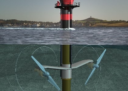 SeaGen - The world's only commercially operational tidal turbine, feeding 10MMh per tide into the UK grid