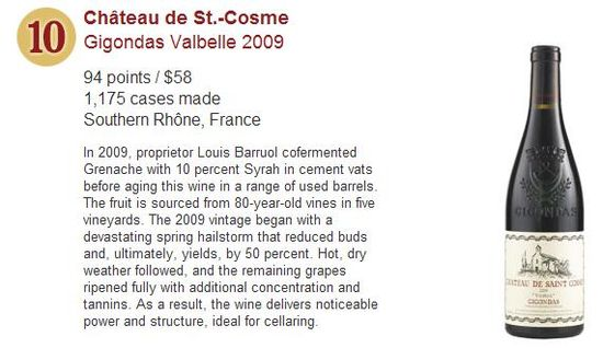 Wine Spectator's Top 10 Wines for 2011 - No 10