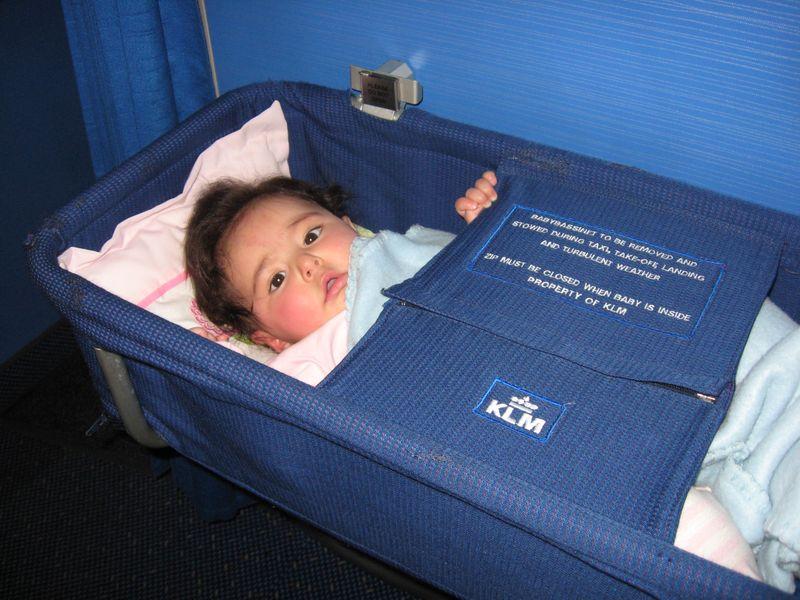 KLM Airlines baby bassinet