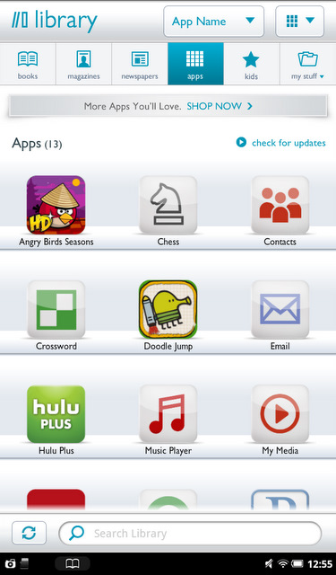 B&n Nook Tablet App Library