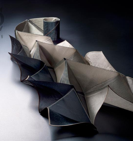 Origami pleats