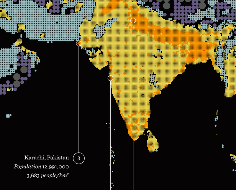India and Pakistan. Delhi and Karachi are the second and third most populous cities in the world.