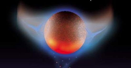 Artist conception of Tyche as a brown dwarf star