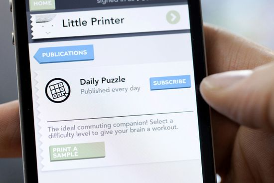 BERG's Little Printer app