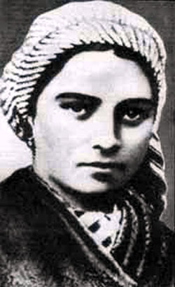 Bernadette Soubirous as a young peasant girl