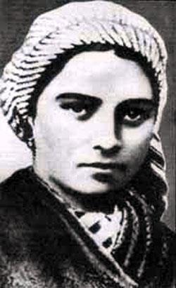 Bernadette Soubirous as a young peasant girl