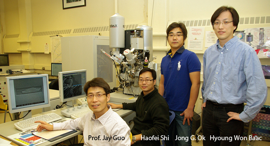 Professor Jay Guo and his University of Michigan team that invented special pure black coatings made from nanotubes that can camouflage objects