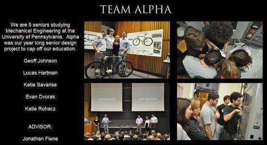 The Alpha Bike Design Team