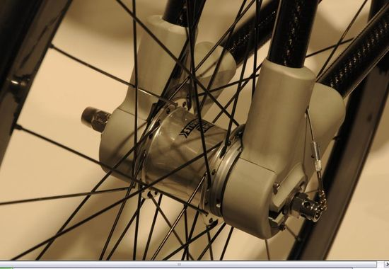 The Alpha Bike integrated and encased rear differential