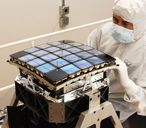 NASA Kepler photometer is comprised of just one instrument which is an array of 42 CCDs (charged coupled devices).  Each 50x25 mm CCD has 2200x1024 pixels