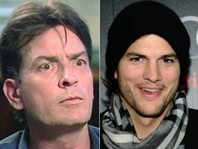 Charlie Sheen is in shock after he hears Ashton Kutcher took his place in the TV show 'Two and One-Half Men' #winning