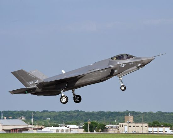 F-35 Lightning II taking off