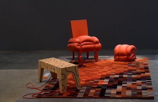 Design Museum Holon - Plus du Madam Rubens chair by Dutch designer Frank Willems