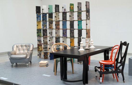 Design Museum Holon - Armchair by Company and Johan Olin; bookshelf by Werner Aisslinger