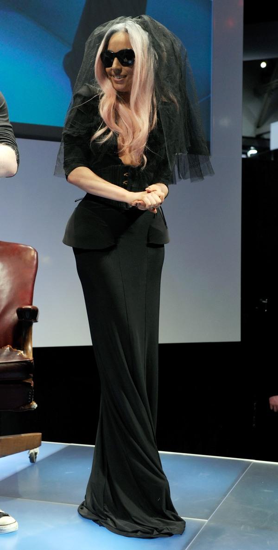 Lady Gaga dark formal dress