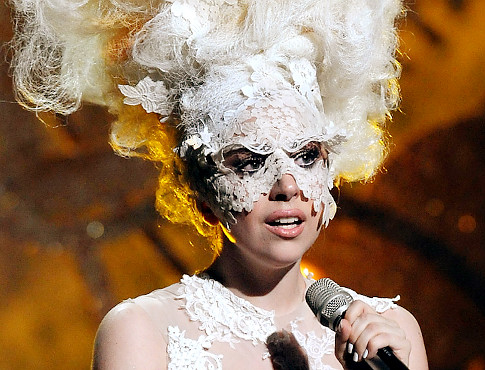 Lady Gaga loves out-of-this world head pieces