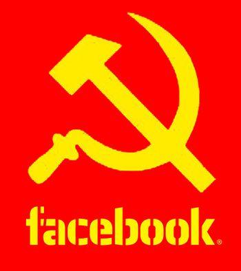 Facebook Commie logo