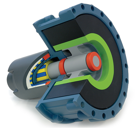 Ricardo Kinergy high-speed, hermetically-sealed flywheel energy storage system. Click to enlarge