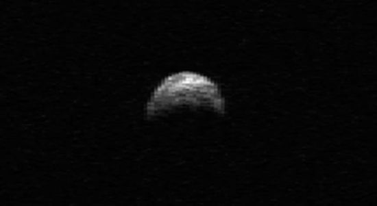 Radar image of asteroid 2005 YU55 taken by the Arecibo Radar Telescope in Puerto Rico on April 19, 2010
