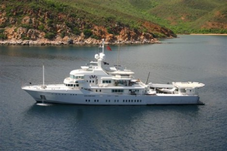 Larry Page Google's billionaire cofounder in January 2011 bought a $45 million superyacht called Senses from a New Zealand business man named Sir Douglas Myers