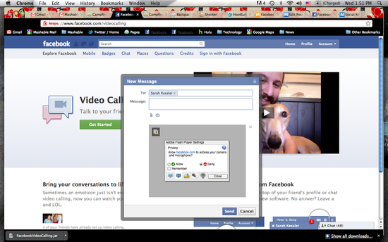 Facebook Video Chat - How it works - 3