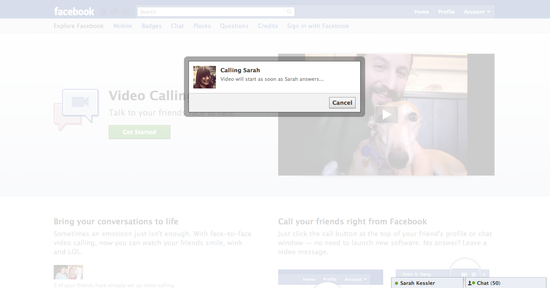 Facebook Video Chat - How it works - 4