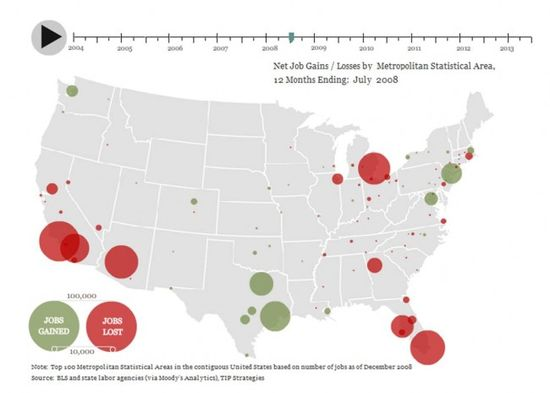 The Geography of Jobs Interactive Map - Job Growth and Losses after 2004