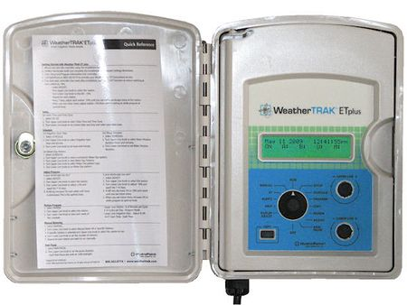 Hydropoint's WeatherTRAK ETplus Controller programming panel (inside view) is used for residential irrigation