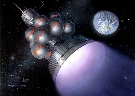 Daedalus unmanned interstellar spacecraft