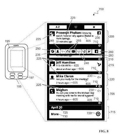 Google Social Hub patent application illustration 8