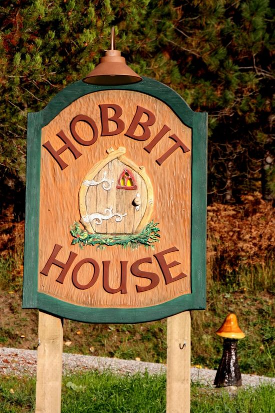 The Hobbit House sign